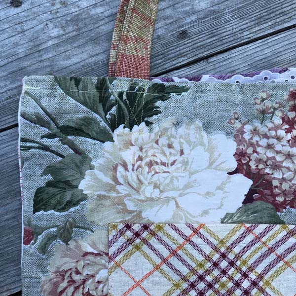 upcycled floral bag, sewn on Vancouver Island by Prim Stargazer in Qualicum Beach