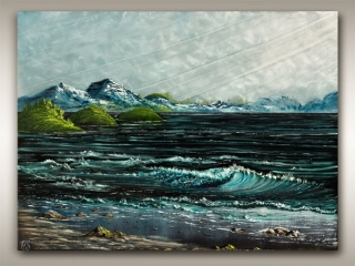 Vancouver Island seascape painting by Robbie Stroud Nanaimo B.C. artist