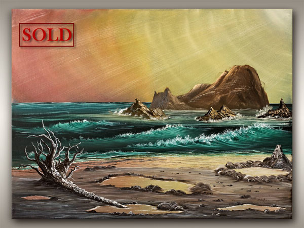 Oil Painting of Vancouver Island coastline, by Robb Stroud