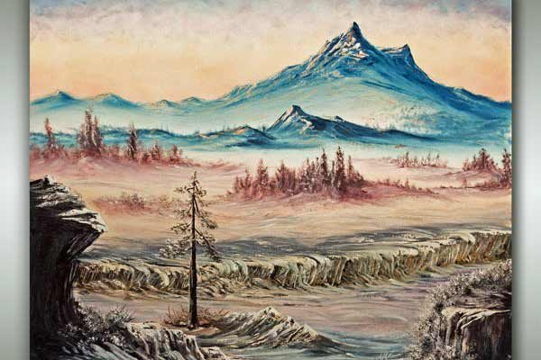 Vancouver Island Oil Landscape painting by Robbie Stroud Art in Nanaimo, B.C.
