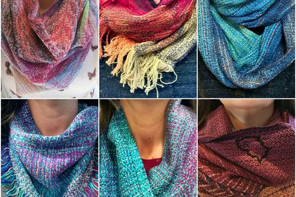 Handwoven scarves made in Nanaimo, Vancouver Island, Canada