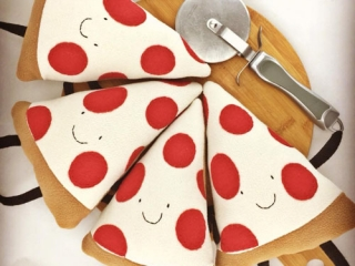 Cloth pizza, handmade on Vancouver Island by Sweet Peas