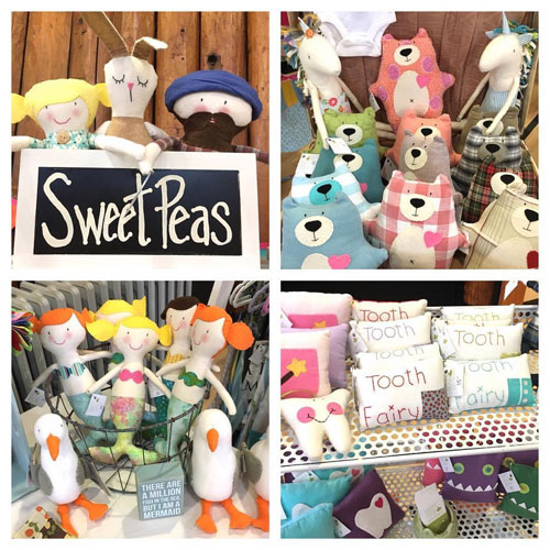 Handmade bunny, mermaid, bear, unicorn stuffies and tooth ferry pillows made on Vancouver Island