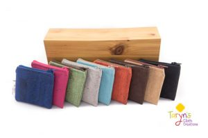 Assorted cork wallets, product handmade on Vancouver Island by Taryn's cloth creations