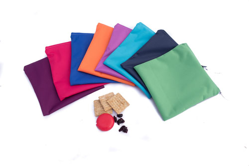 Reusable snack bags, product handmade on Vancouver Island by Taryn's Cloth Creations