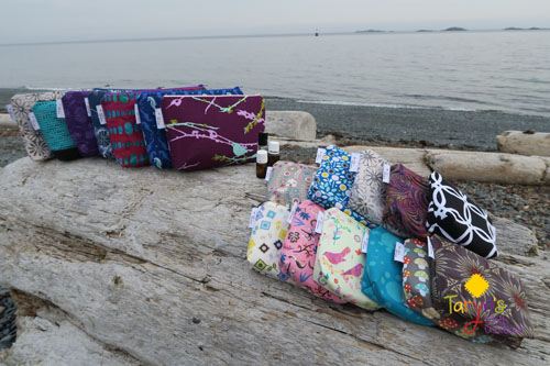 Assorted Essential Oil carrying cases, product handmade on Vancouver Island by Taryn's Cloth Creations