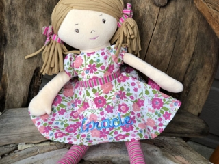Personalized doll, handmade in Cobble Hill, B.C., on Vancouver Island by Threading the Love