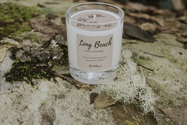 Lavender and Lemon natural candle, product handmade on Vancouver Island by Tofino Hobbyist