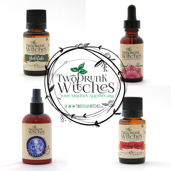 yuketide essential oil, holiday spirit oil, serum, spray, gift ideas made on vancouver island by two drunk witches
