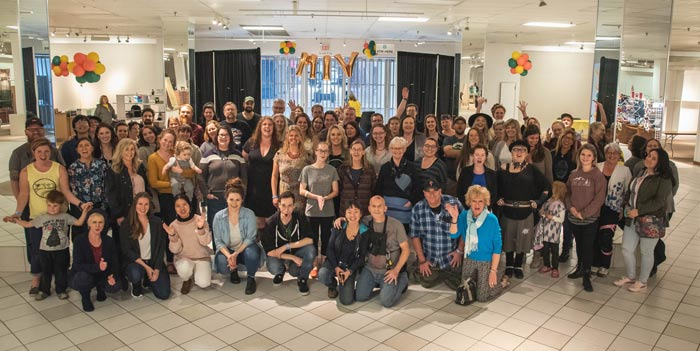 group photo of vendors at VIM, Vancouver Island craft market