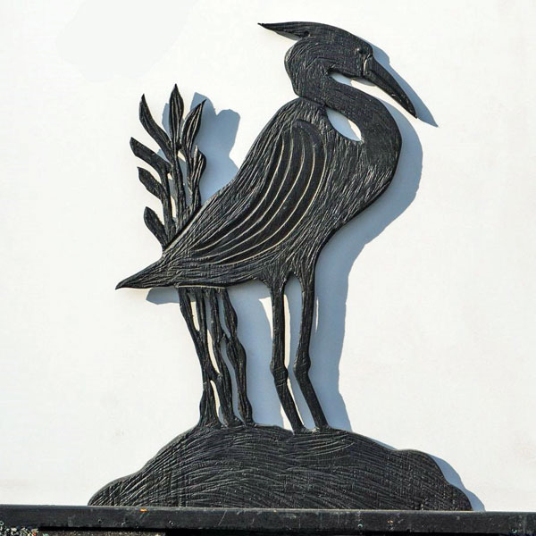 Blue heron wood carving, product made in Nanaimo BC on Vancouver Island