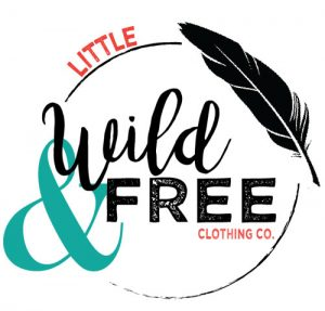 Little Wild and Free Logo, handmade kid's clothes in Port Alberni, B.C.