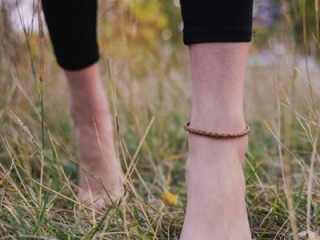 leather wrapped anklet, stocking stuffer ideas made on Vancouver Island