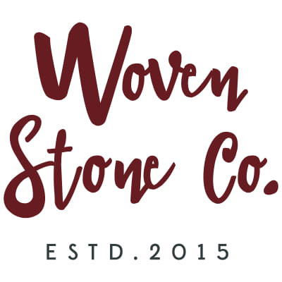 Woven Stone Co logo, jewelry made in Victoria, B.C., on Vancouver Island