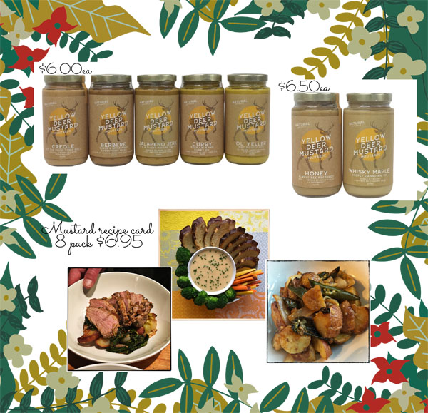 mustards made on vancouver island by yellow deer mustard