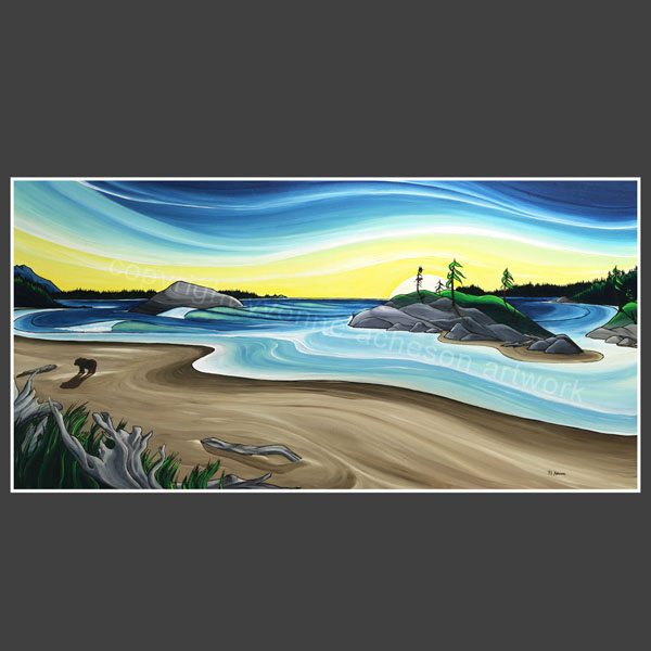 """Ebb Tide"" painting by Yvonne Acheson, Parksville, Vancouver Island artist"