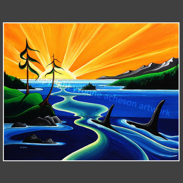 Out to Sea painting by Yvonne Acheson, Parksville, Vancouver Island Canadian artist