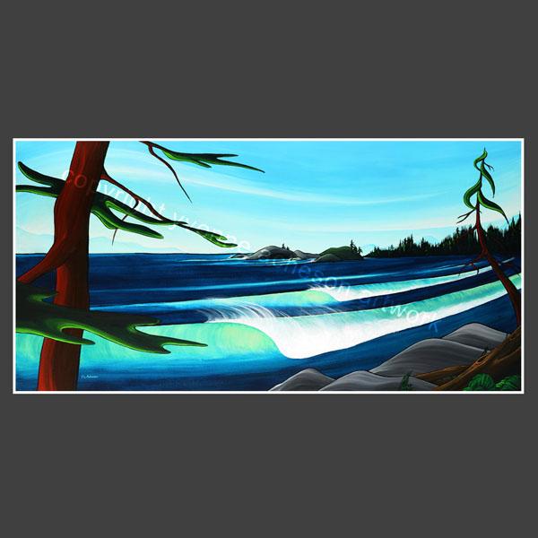 """Secret Spot"" painting by Yvonne Acheson, Parksville, Vancouver Island Canadian artist"