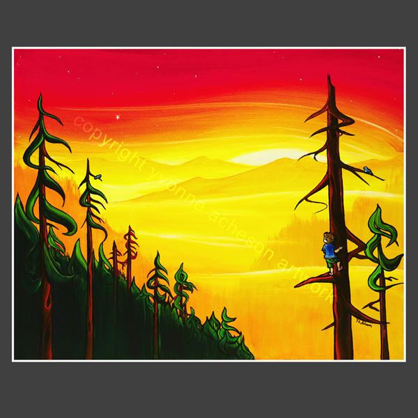 """Star of Wonder"" painting by Yvonne Acheson, Parksville, Vancouver Island artist"