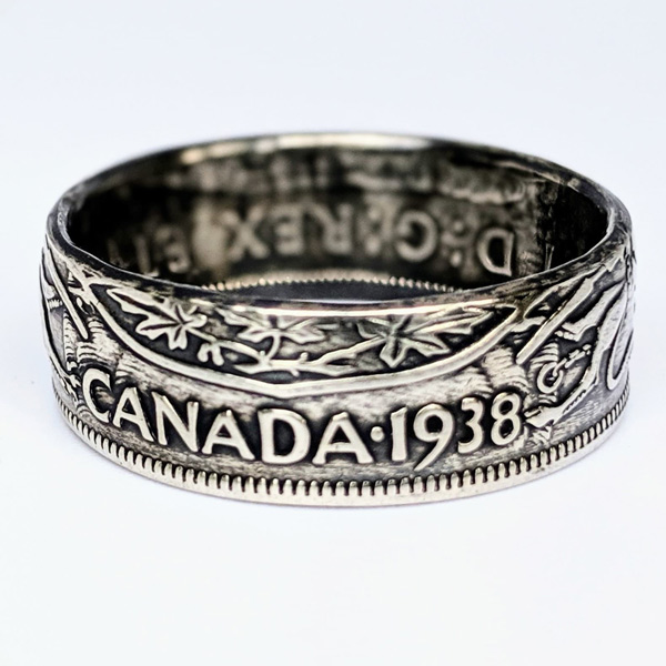 1938 coin ring made in Nanoose Bay on Vancouver Island