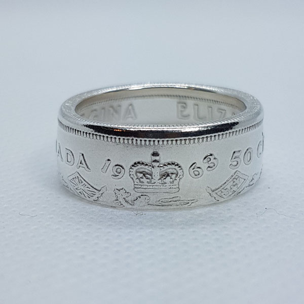 1963 Canadian coin ring, product handmade in Nanoose Bay, B.C., Canada, on Vancouver Island by A Welcome Change