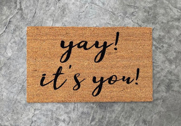 yay it's you heavy duty doormat made in Nanaimo Canada on Vancouver Island by AspenBlueCo