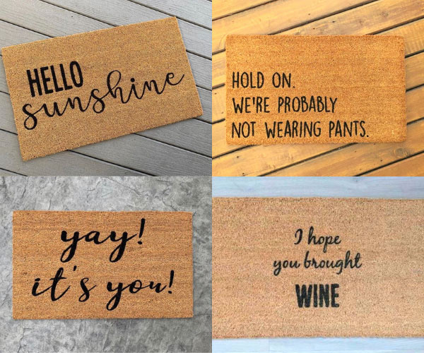 custom doormats made on Vancouver Island, gift ideas made locally