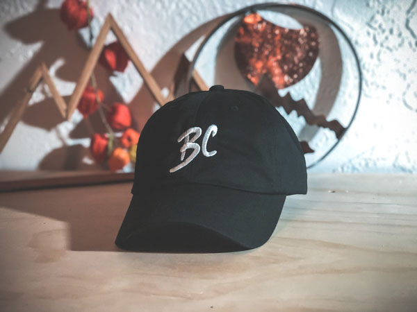 BC Brands hat made on Vancouver Island