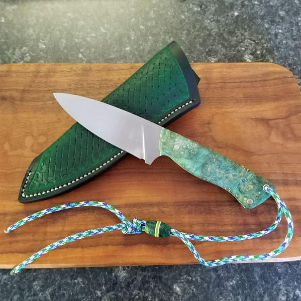 custom EDC knife made in Canada on Vancouver Island by Beval Forge