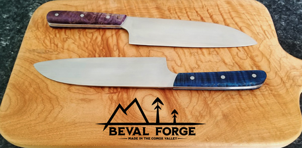 chef knives made in Comox Valley on Vancouver Island B.C. Canada