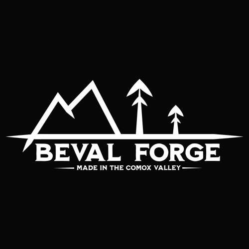 Beval Forge logo, blacksmith knife maker in Comox Valley on Vancouver Island