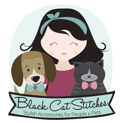 Black Cat Stitches logo, human and pet accessories