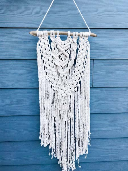 macrame wall hanging, handmade on Vancouver Island by Blackbird Creative