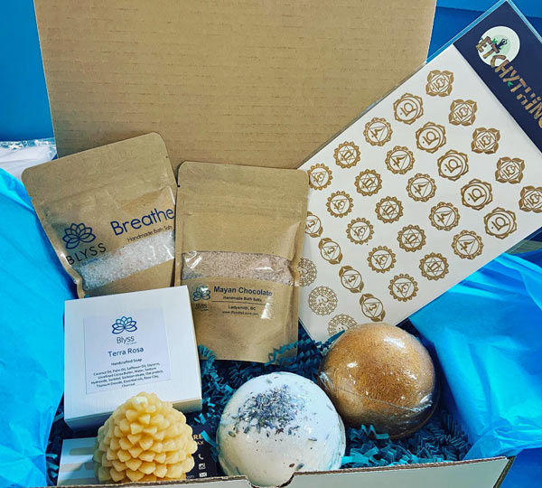 All natural soap subscription box by Blyss by Laura, made on Vancouver Island