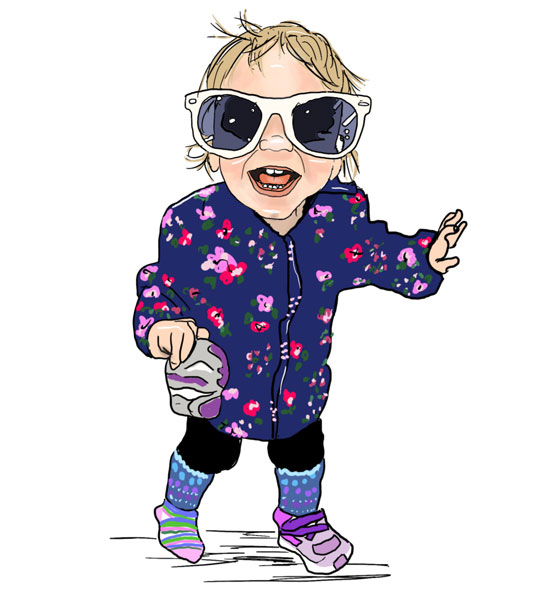 cartoon your kid or any person or pet, drawn by Vancouver Island illustrator Bread + Clutter