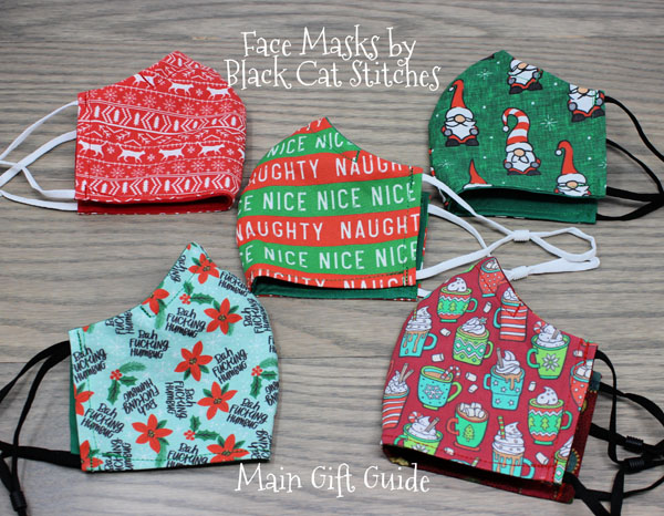 fun christmas and holiday face masks made on vancouver island canada