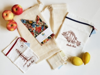Reusable produce and bulk bags, made on in Vancouver Island by Coastal Hive