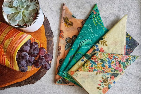 vancouver island made beeswax wraps, made in Courtenay by Coastal Hive