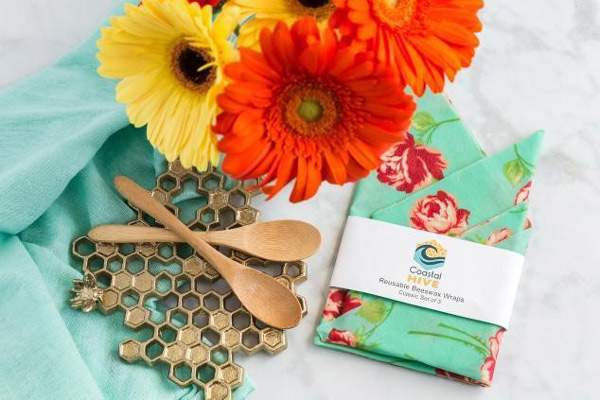 beeswax wraps pack, made on vancouver island stocking stuffers