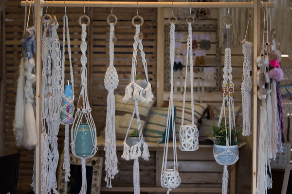 image from Vancouver Island Crafted Farmhouse market of handmade plant hangers