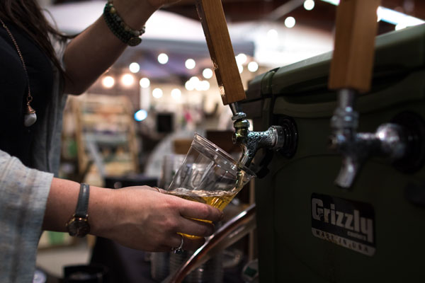 Hoy Lake beer on tap at Crafted Farmhouse Vancouver Island Market