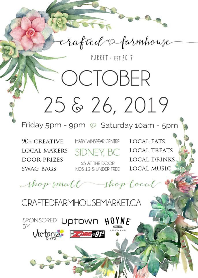 Crafted Farmhouse poster, Vancouver Island Fall Craft Market in Victoria