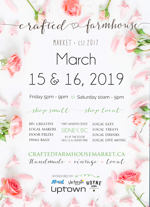 Crafted Farmhouse poster, Vancouver Island Market in Sydney, B.C.