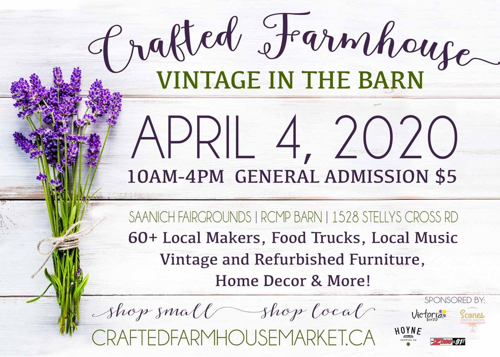 Crafted Farmhouse Vintage poster, Vancouver Island Fall Craft Market in Victoria