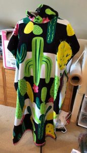 Cactus Canadian made hooded town, made on Vancouver Island by Creative Hands