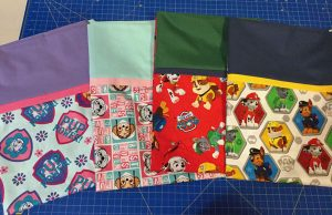 Paw Patrol pillow cases made on Vancouver Island