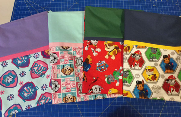 Canadian made Paw Patrol pillow cases, made on Vancouver Island by Creative Hands