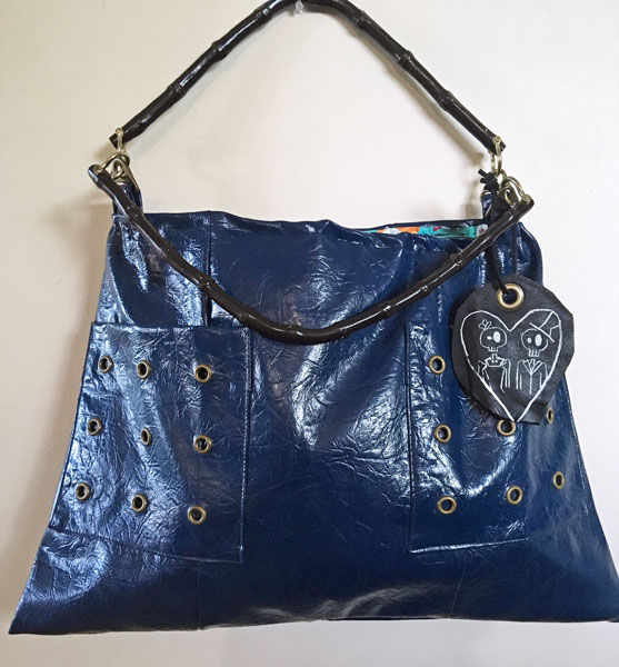 reclaimed leather handbags made on Vancouver Island in Nanaimo by Dead Ringer Purses sewing