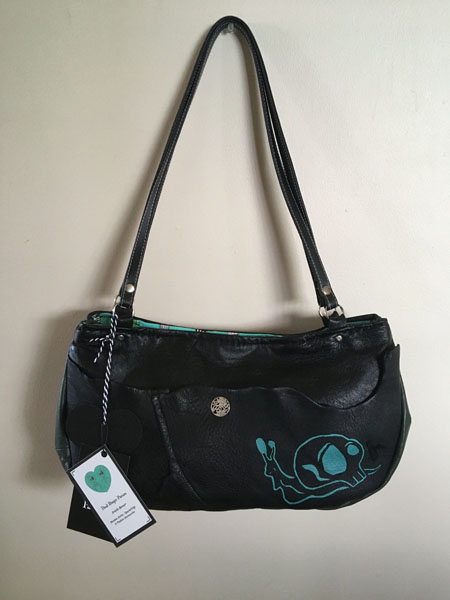 upcycled leather purses, local gift ideas made on vancouver island, canada