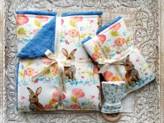 bunny blankets and teethers made in Canada, Vancouver Island easter gift ideas